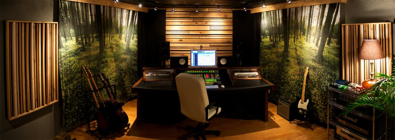 Mix Engineer Christian Cummings's personal San Diego mix studio - Front